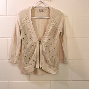 Vintage American Eagle grommet cardigan size small
